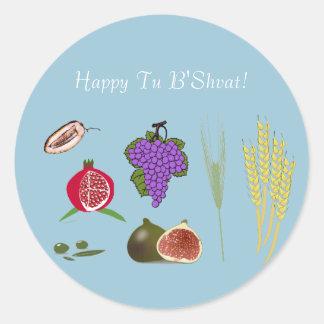 Tu Bishvat - 7 minim Round Sticker