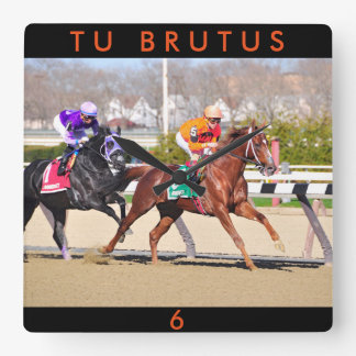 Tu Brutus Square Wall Clock