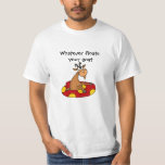 TU- Funny Whatever Floats Your Goat Cartoon Tshirt