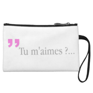 TU M'AIMES? French Lovers Love Query Clutch