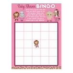 Tu Tu Cute Ballerina Baby Shower BINGO cards TTC