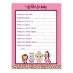 Tu Tu Cute Ballerina Baby Shower Wishes for Baby Post Card