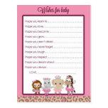 Tu Tu Cute Ballerina Baby Shower Wishes for Baby Postcard