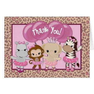 Tu Tu Cute Ballerina Thank You TTC note card