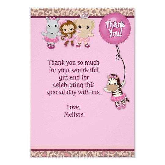 """Tu Tu Cute Thank You 3.5""""x5"""" MONKEY GIRL TTC(FLAT) Card"""