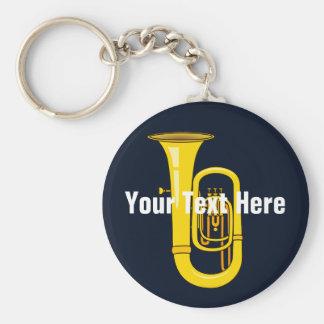 Tuba Basic Round Button Key Ring