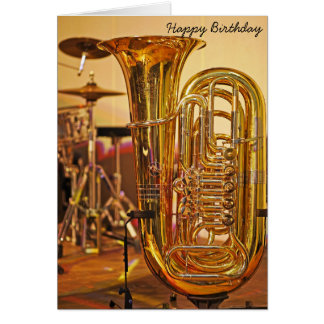 Tuba brass instrument birthday card