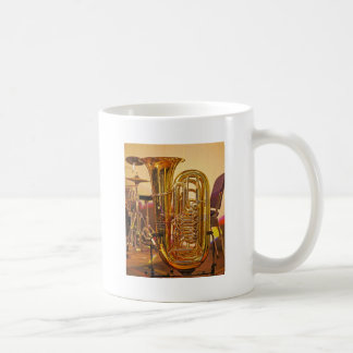Tuba brass musical instrument coffee mug