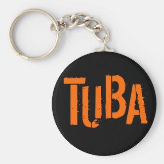 TUBA Button Keychain