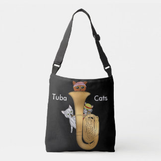 Tuba Cats Are Cool and Amusing Crossbody Bag
