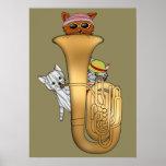 Tuba Cats Poster