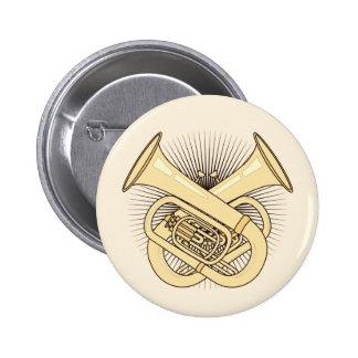 Tuba Crossbones 6 Cm Round Badge