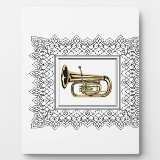 tuba cubed display plaques