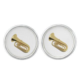 """""""Tuba"""" design jewelry set Cuff Links"""