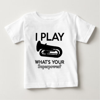 tuba designs baby T-Shirt