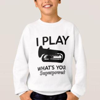 tuba designs sweatshirt