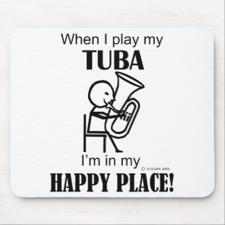 Tuba Happy Place Mouse Pad