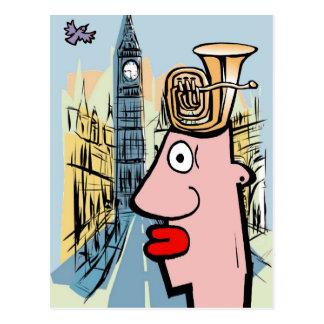 Tuba Head In London Postcard
