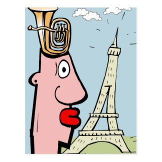 Tuba Head In Paris Postcard