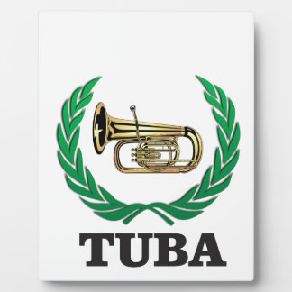 tuba in a frame plaque