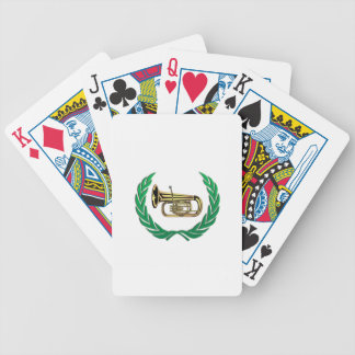 tuba in green poker deck