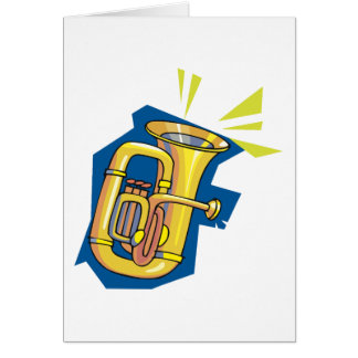 Tuba Instrument Greeting Cards