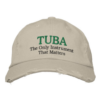 Tuba Music Embroidered Hat