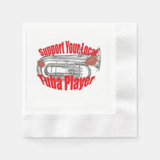 "Tuba Musician ""Support Tubas""  Kitchen Dining Disposable Napkin"