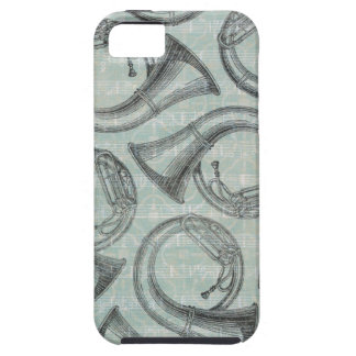 Tuba Pattern iPhone 5 Covers