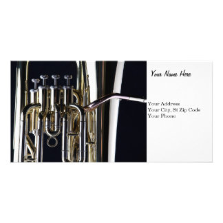 Tuba Photograph Image Custom Photo Card