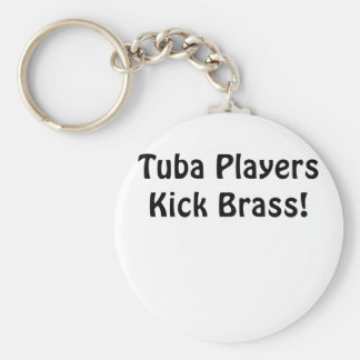 Tuba Players Kick Brass Key Ring
