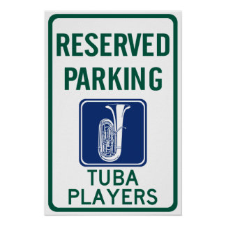 Tuba Players Parking Poster