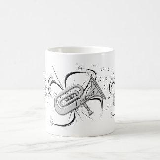 Tuba Silver and Notes Coffee Mug