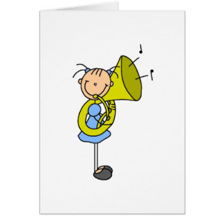 Tuba Stick Figure Card