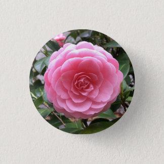 Tubaki Camellia Flower 3 Cm Round Badge