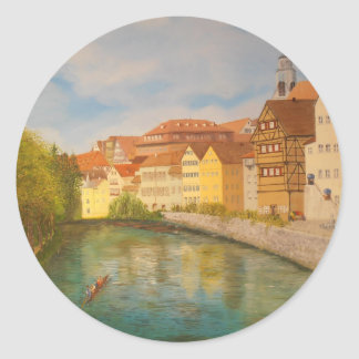 Tubingen in Sunlight Classic Round Sticker