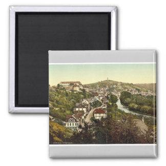 Tubingen, Wurtemburg, Germany rare Photochrom Square Magnet