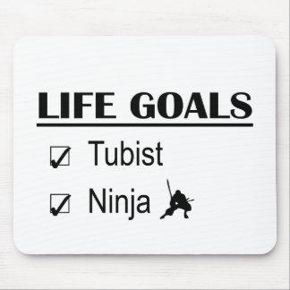 Tubist Ninja Life Goals Mouse Pad