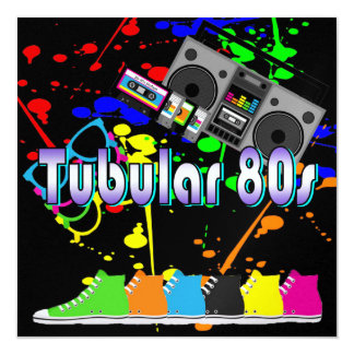 Tubular 80s card