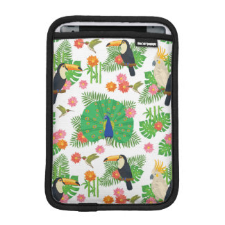 Tucan And Peacock Pattern iPad Mini Sleeves