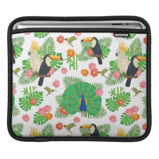 Tucan And Peacock Pattern Sleeve For iPads