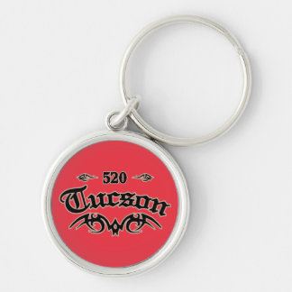 Tucson 520 Silver-Colored round key ring