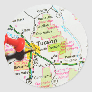Tucson, Arizona Classic Round Sticker