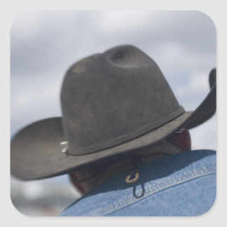 Tucson, Arizona. Cowboy hats in use at the Square Sticker