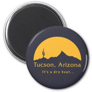Tucson, Arizona - It's a dry heat... 6 Cm Round Magnet