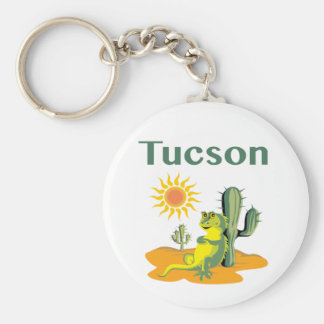 Tucson Arizona Lizard under Saguaro Key Ring