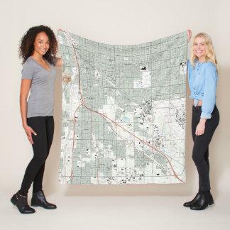 Tucson Arizona Map (1992) Fleece Blanket