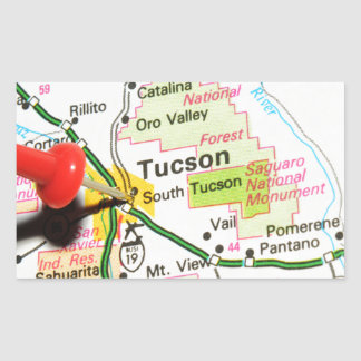 Tucson, Arizona Rectangular Sticker