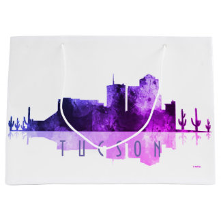 TUCSON, ARIZONA SKYLINE - Purple Large Gift Bag