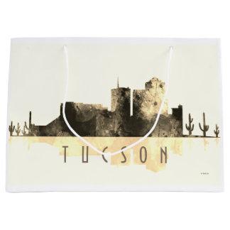 TUCSON, ARIZONA SKYLINE - sepia Large Gift Bag